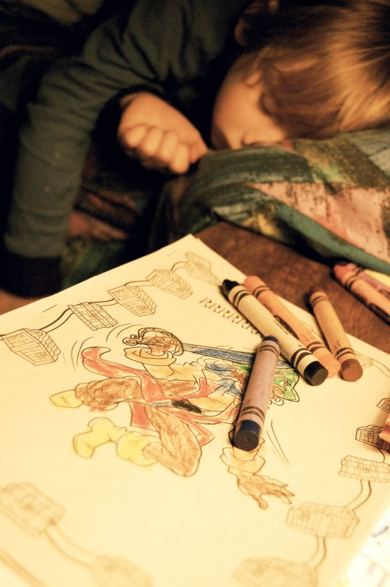 matty-sleeping-with-crayons