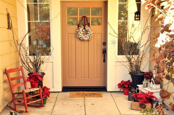front porch {for christmas} - Lisa Leonard Designs Blog