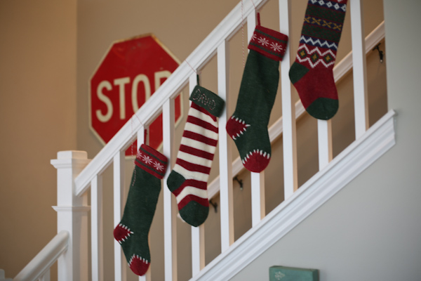 Decorating archive lisa leonard designs blog for Hang stockings staircase