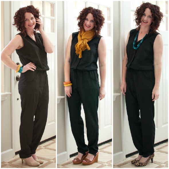 Goede what should i wear today - new to me, black jumpsuit OY-54