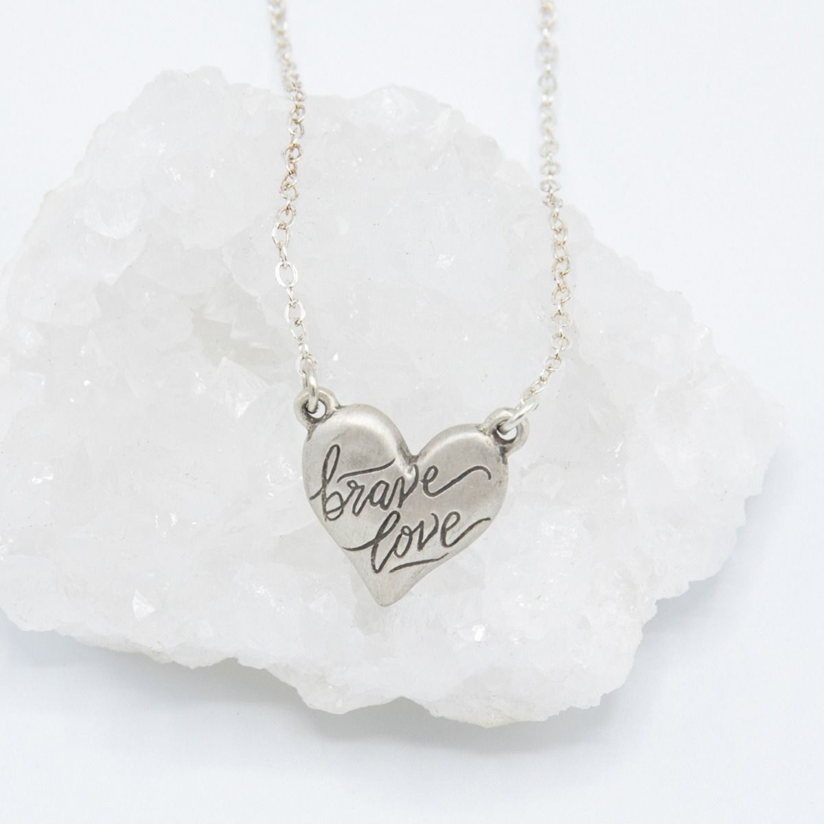 Brave Love® Emblem Necklace [Sterling Silver]