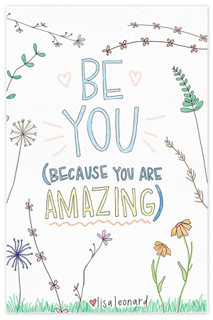 Be You {coloring page}