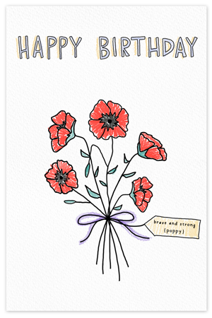 August Birthflower {birthday card}