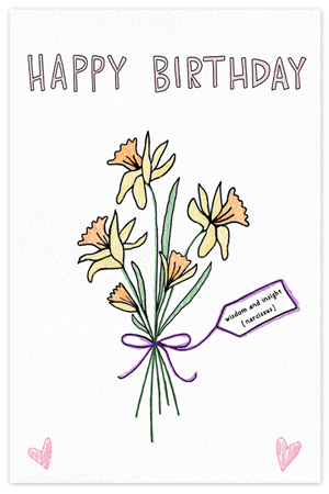December Birthflower {birthday card}