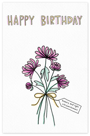 November Birthflower {birthday card}