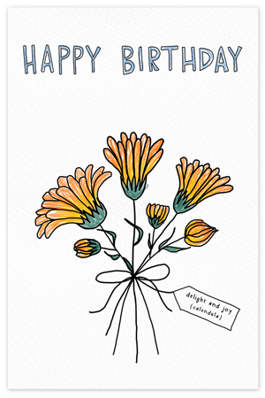 October Birthflower {birthday card}
