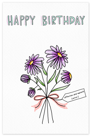 September Birthflower {birthday card}