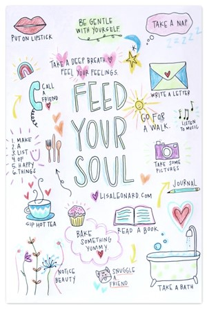 feed your soul {coloring page}