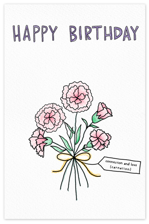 January Birthflower {birthday card}