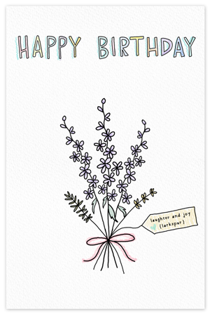 July Birthflower {birthday card}