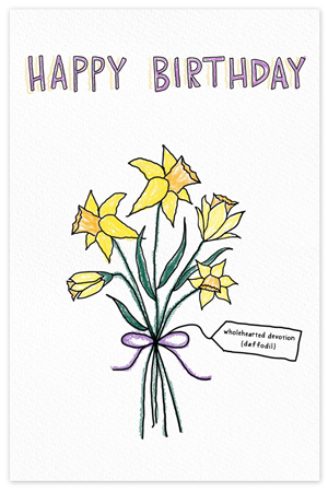 March Birthflower {birthday card}