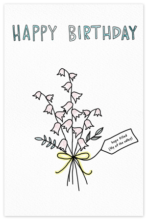 May Birthflower {birthday card}