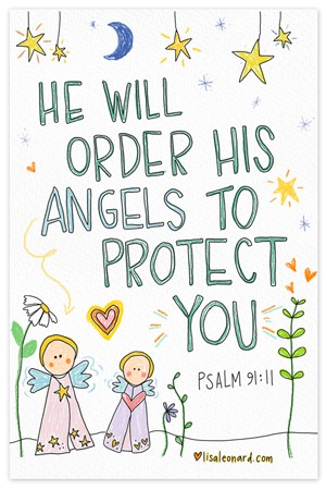Angels On High {coloring page}