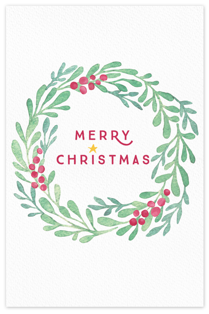 Merry Christmas {greeting card}