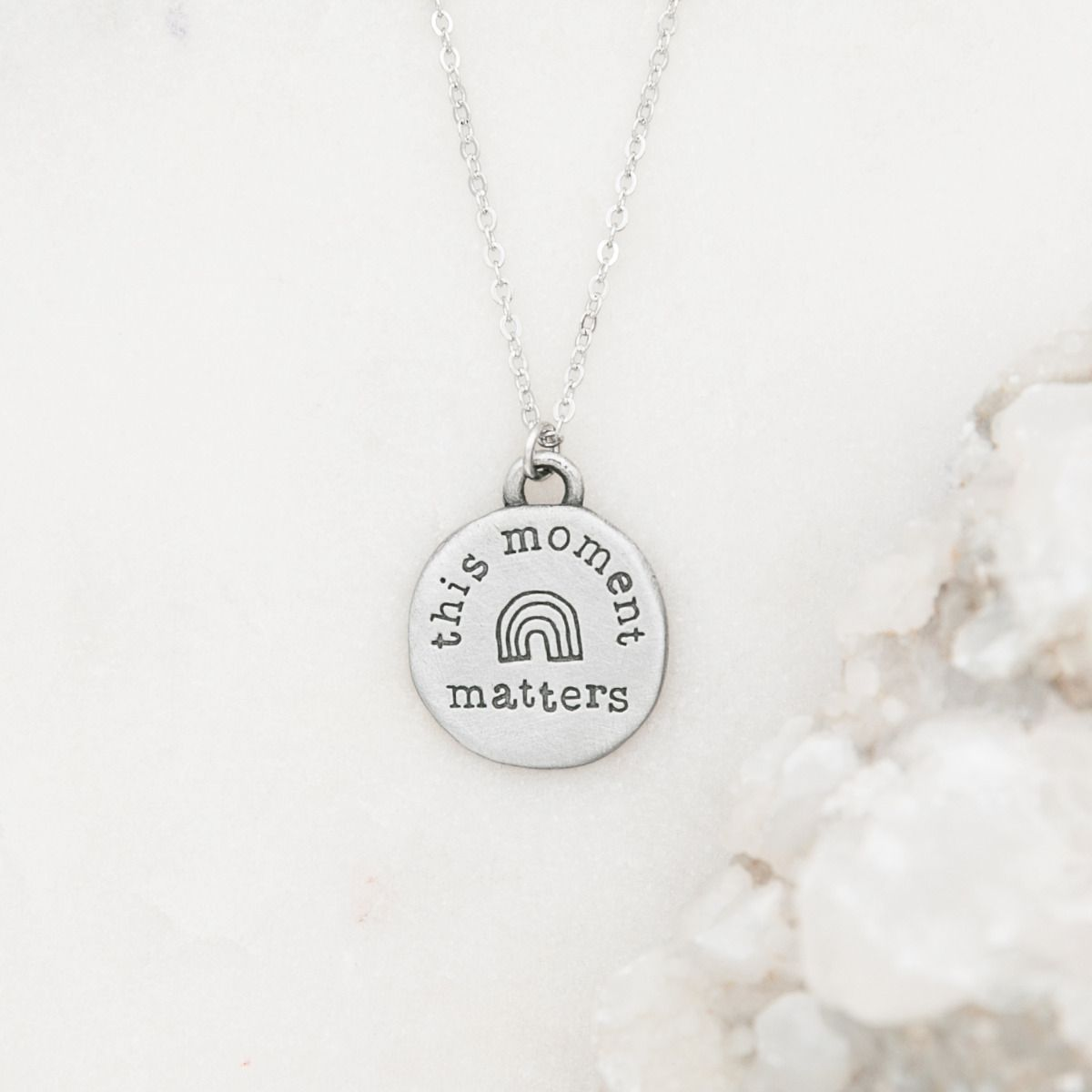 This Moment Matters Necklace [Pewter]
